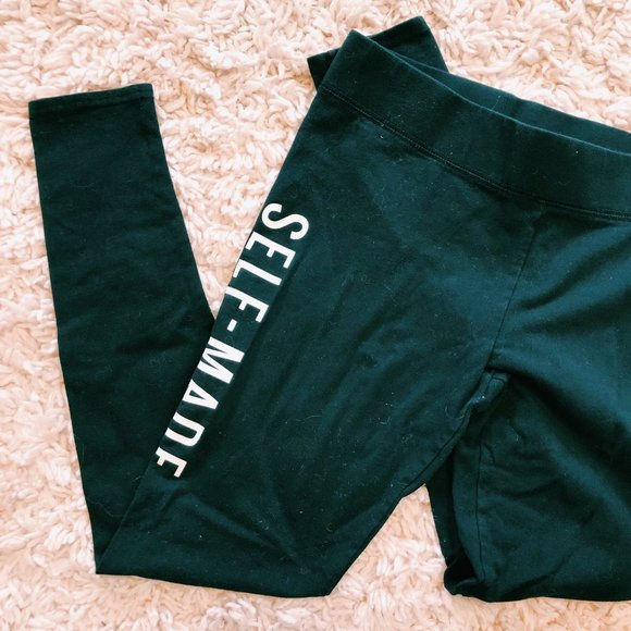 """American Eagle Outfitters Pants - Aerie x Iskra Lawrence Black """"Self-Made"""" Leggings"""